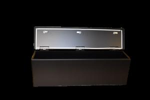 Hi-Standard Outfitters Polaris Ranger Storage Console Aluminum Construction Black Powder Coat finish weatherproof, secure, lockable
