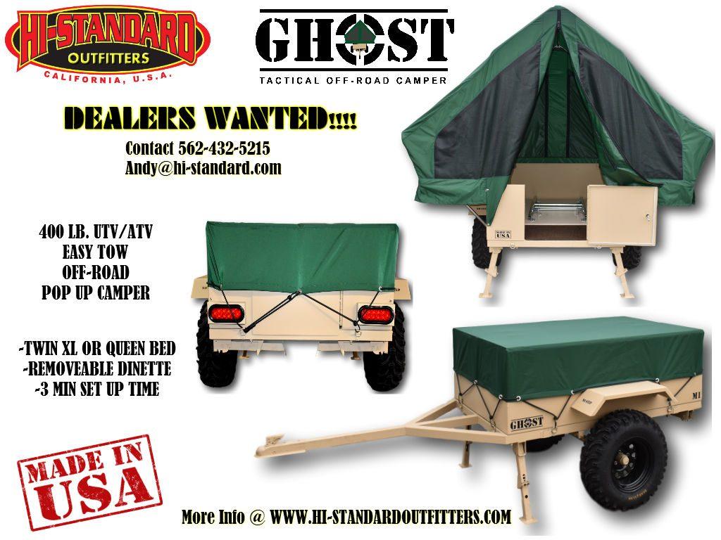 Ghost Camper UTV Camper ATV Camper Off-Road Camper Military Camper